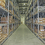 Aisle in a warehouse